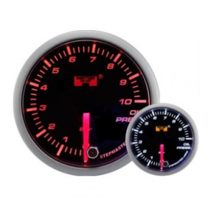 52mm/60mm Smoked Stepper Motor (Warning) - Oil Pressure Gauge (BAR)