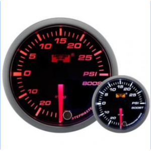 52mm/60mm Smoked Stepper Motor (Warning) - Turbo Boost Gauge