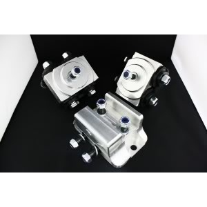 Avid Racing AM-10S1410-75A - NISSAN 200SX S14 - BILLET ENGINE MOUNT KIT 75 SHORE