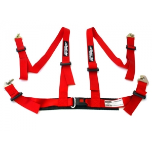 BUDDY CLUB BC-NHRSSB-4R - RED 4 POINT HARNESS ( none FIA )