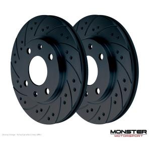 Honda S2000 Rear Grooved Brake Discs Set