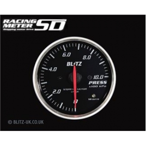 Blitz 19564 Racing Meter SD Pressure Gauge - 60mm