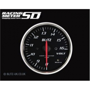 Blitz 19567 Racing Meter SD Volt Gauge - 60mm