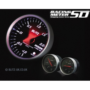 Blitz 19571 - Various Fitments - Racing Meter SD - Boost Gauge - 52mm