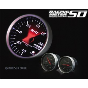 Blitz 19574 Racing Meter SD Pressure Gauge - 52mm