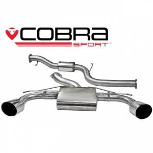 Cobra Exhaust FD55 3 inch Cat Back Exhaust (Resonated) Ford Focus RS (Mk2) 08-11