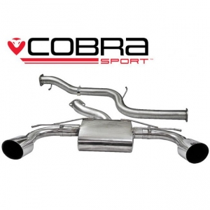 Cobra Exhaust FD56 3 inch Cat Back Exhaust (Non-Resonated) Ford Focus RS (Mk2) 08-11