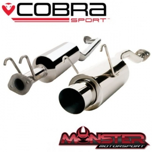 Cobra Sport HN12TP27 - Honda Civic Type R (EP3 2000-2006) - Cat Back System with Round Tailpipe