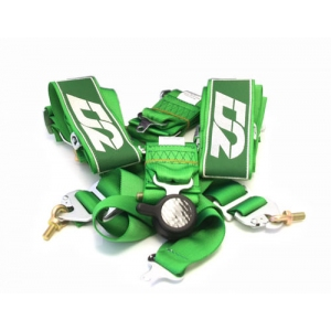 "D2 Racing D2-2-6 - SPORT GREEN HARNESS 3"" FIA 6pt"