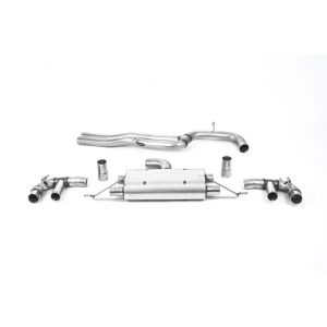 Milltek Sport 80mm Non-Resonated Cat-Back Exhaust System for Audi RS3 Saloon | Sedan 400PS (Non OPF GPF Models)