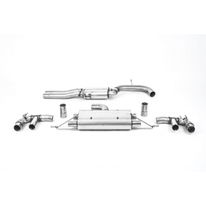 Milltek Sport 80mm Resonated Cat-Back Exhaust System for Audi RS3 Saloon | Sedan 400PS (Non OPF GPF Models)