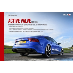 Milltek Sport Active Valve Control System for Audi S4 3.0 Turbo V6 B9 - Saloon|Sedan & Avant (Sport Diff Models Only)