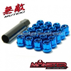Muteki Blue Open Style Wheel Nuts Made in Japan