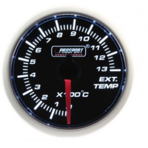Prosport 52mm (Air Code) Exhaust Gas Temperature Gauge