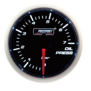 Prosport 52mm (Air Code) Oil Pressure Gauge - BAR (Various Colours)