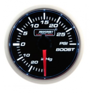Prosport 52mm (Air Code) Turbo Boost Gauge - PSI / BAR (Various Colours)