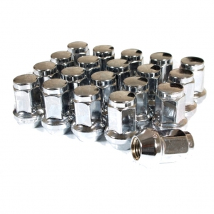 Titan 17mm Wheel Nuts - Chrome M12 x 1.25 and 1.5mm thread choices