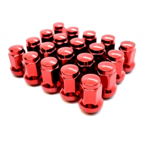 Titan 17mm Wheel Nuts - Red M12 x 1.25 and 1.5mm thread choices