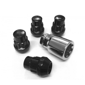 Titan Locking Wheel Nuts Black in M12x1.25 or 1.5mm