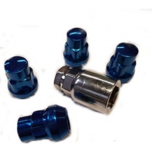 Titan Locking Wheel Nuts Blue in M12x1.25 or 1.5mm