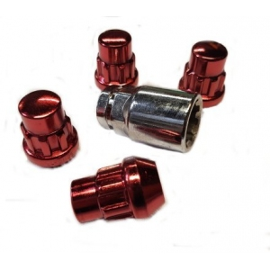 Titan Locking Wheel Nuts Red in M12x1.25 or 1.5mm