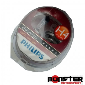 VisionPlus H4 (Philips) Headlamp Bulbs