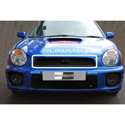 Top Grille Zunsport Compatible With Subaru Impreza Bug Eye 2001 to 2003 Black finish
