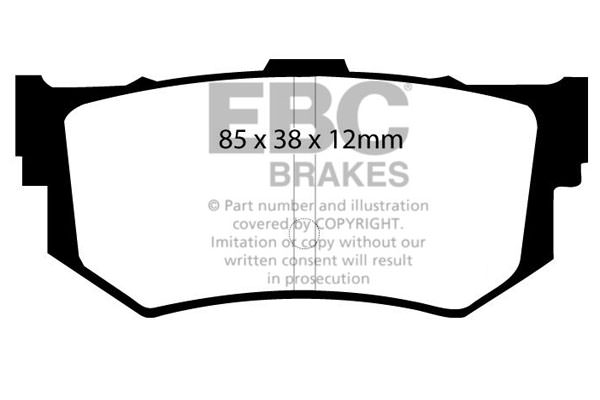 EBC Brakes (DP514) - HONDA Prelude 1 8 Various Eng  Types (83-87) - EBC  Ultimax OEM Replacement Brake Pads (REAR) To Fit Rear