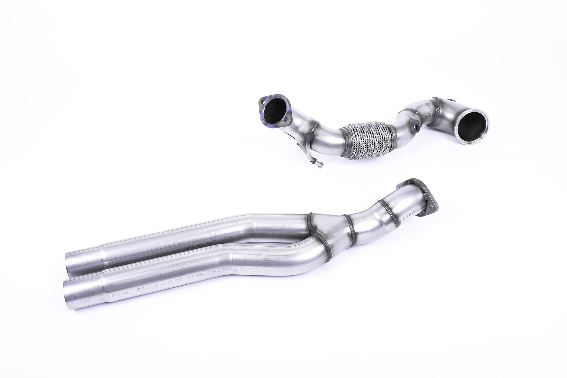 Milltek Sport Large Bore Downpipe With Catalyst Delete for Audi RS3 Saloon | Sedan 400PS (Non OPF GPF Models)_1