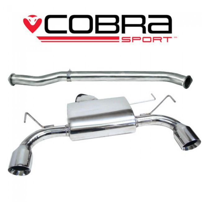 Cobra Exhaust Nissan 350Z (03-09) Centre & Rear Exhausts (Non-Resonated) NZ01_1