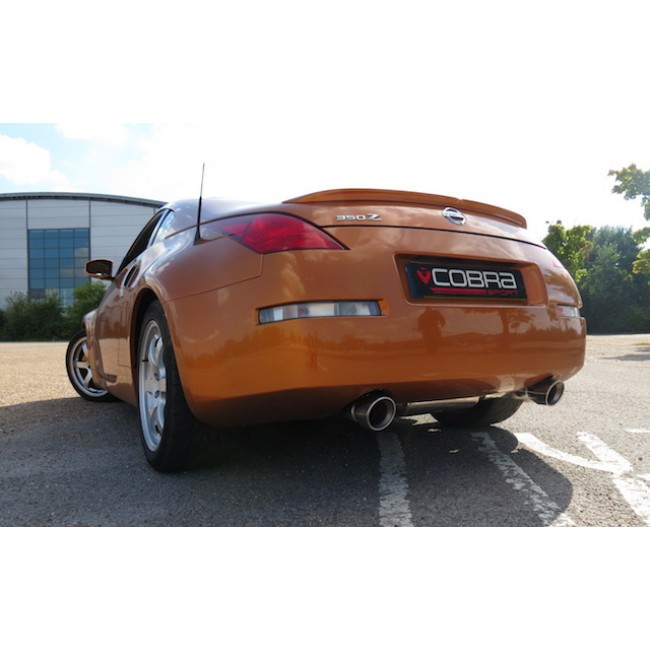 Cobra Sport Exhaust Nissan 350Z (03-09) Centre & Rear Exhausts (Non-Resonated) NZ01_5