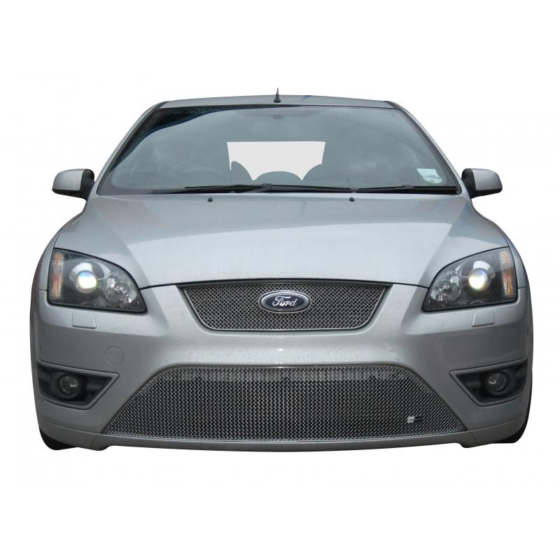 Zunsport ZFR35805 Full Front Lower Grille Set Ford Focus ST 05MY in Silver or Black_2