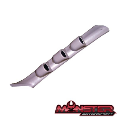 Mitsubishi Evo 4/5/6 - 52mm Triple Gauge Pillar Pod - Grey