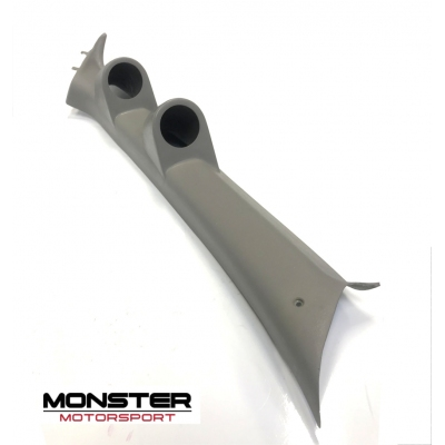Mitsubishi Evo 7/8/9 - 52mm Double Gauge Pillar Pod - Grey